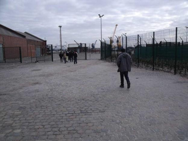 A Calais , l'arrivée des migrants © JAVVA